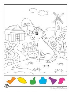 Unicorn Hidden Pictures Activity