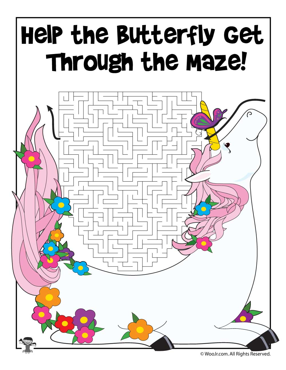 Printable Unicorn Maze Activity Woo Jr Kids Activities