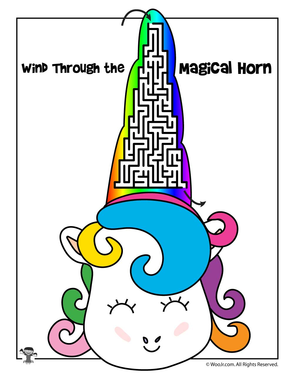Unicorn Maze Printable Woo Jr Kids Activities
