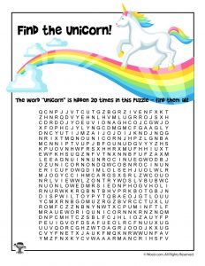 Unicorn Word Search