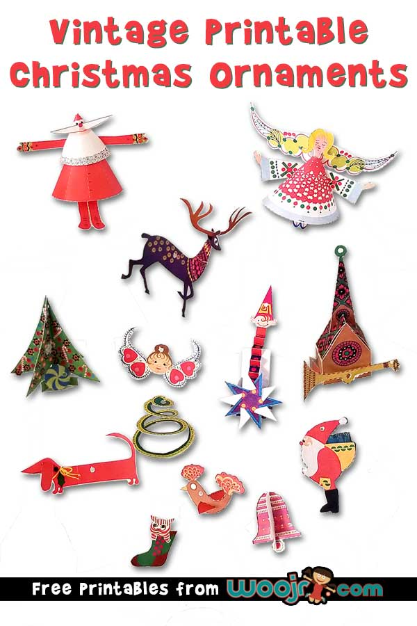 Free Vintage Printable Christmas Ornaments