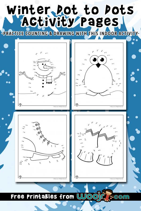 Winter Dot to Dots Activity Pages