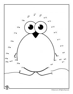 Cute Penguin Connect the Dots
