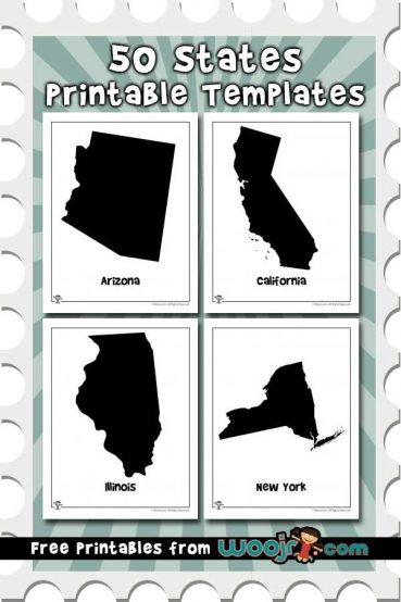 50 States Printable Templates