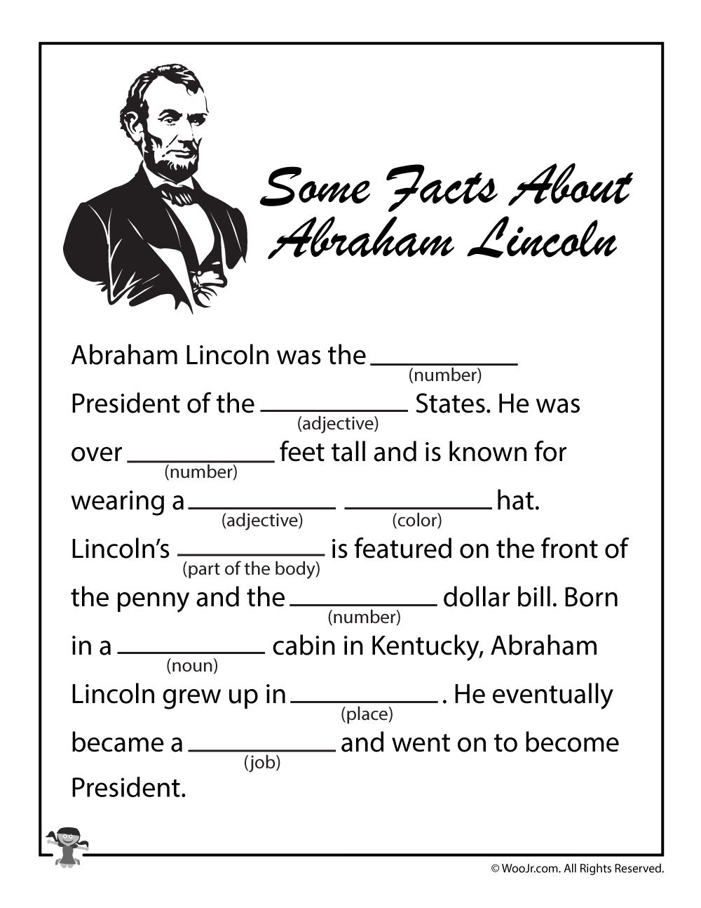 Abraham Lincoln Coloring Pages Printable - Coloring Home | 1294x1000