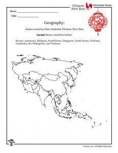 Chinese New Year Geography Worksheet