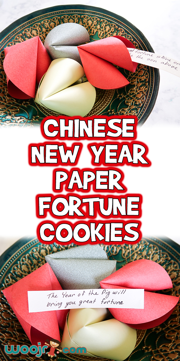 Chinese New Year Paper Fortune Cookies