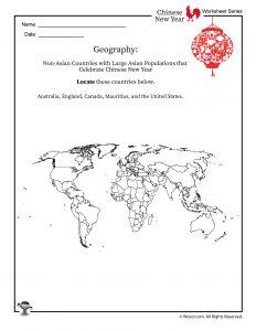 Chinese New Year Around the World Worksheet