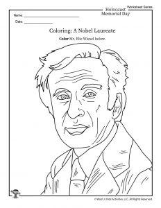 Elie Wiesel Coloring Page