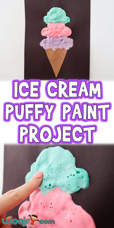 Ice Cream Craft for Kids With Puffy Paint
