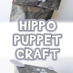 Paper Bag Hippo Puppet Craft