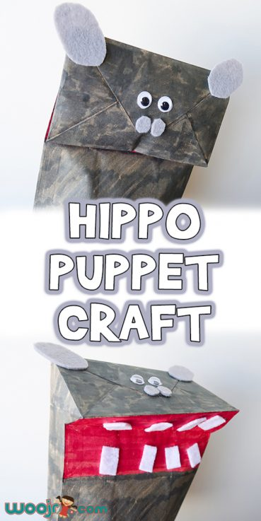 Paper Bag Hippo Puppet Craft