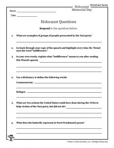 Quiz Questions About the Holocaust