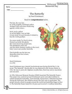 The Butterfly Poem by Pavel Friedmann