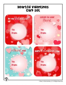 General Valentine's Day Heart Cards