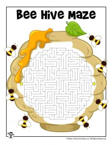 Bee Hive Maze Activity