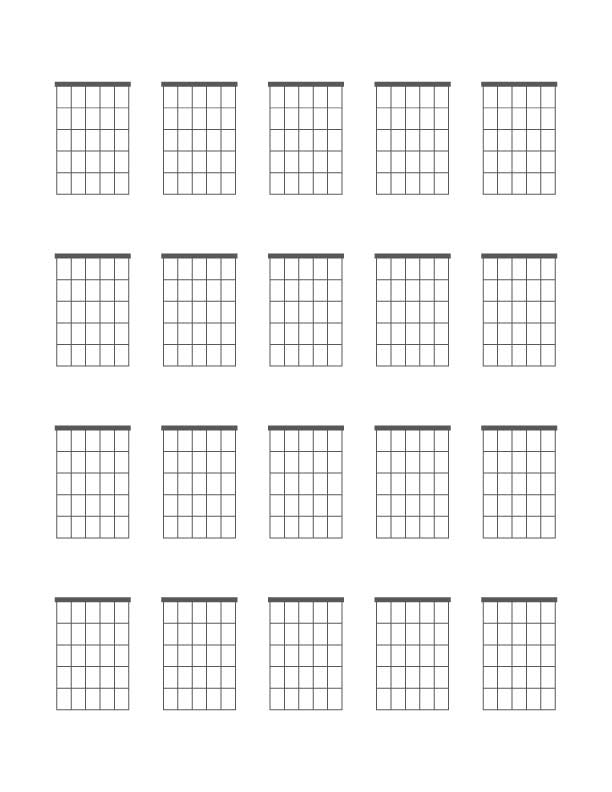 It is a photo of Wild Printable Blank Guitar Chord Chart