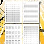 Printable Blank Sheet Music