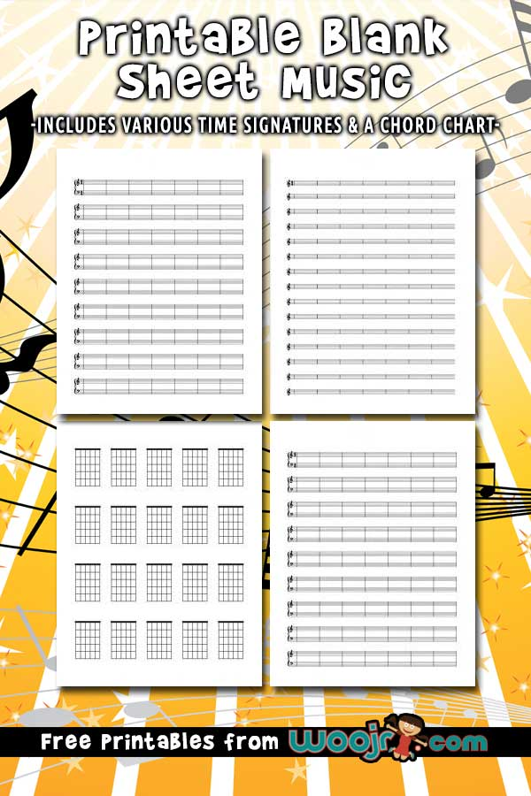 Printable Blank Sheet Music