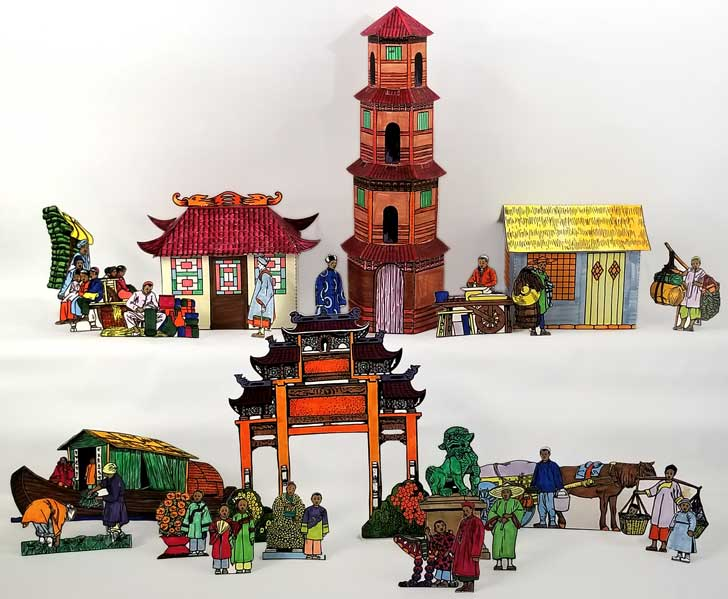 Full Chinese Diorama Paper Craft
