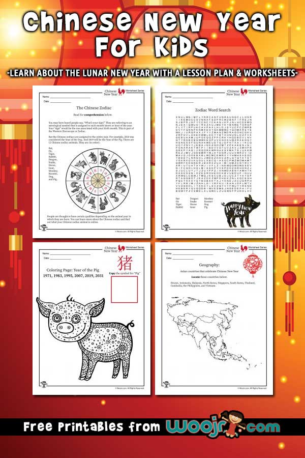 Chinese New Year for Kids - Lesson Plan and Worksheets