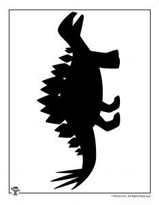 Stegosaurus Silhouette Pattern Printable