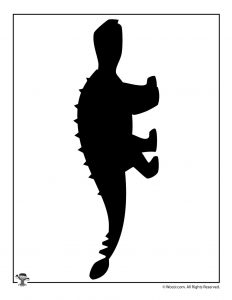 Silvisaurus Dinosaur Craft Template