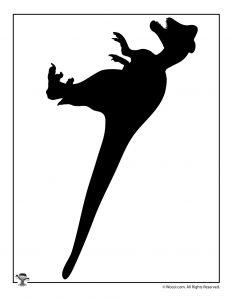 Printable Dinosaur Shape Silhouette