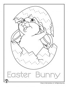 Easter Bunny Letter Tracing Activity