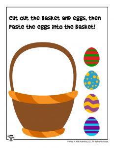 Easter Basket Scissors Practice Worksheet
