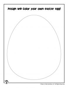 Blank Easter Egg Design Your Own Craft Activity