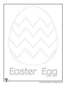 Easter Egg Letter Tracing Worksheet