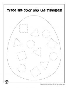 Easter Shape Recognition Activity Sheet