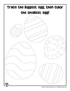 photo regarding Printable Easter Activities referred to as Easter Tracing Worksheets and Printable Pursuits for Young children