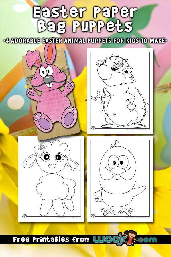 image regarding Printable Paper Bag Puppets identified as Easter Paper Bag Puppets Craft for Children Woo! Jr. Youngsters