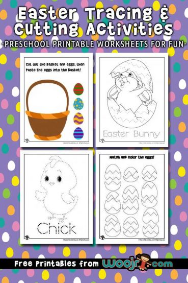 Easter Tracing Worksheets and Printable Activities for Kids