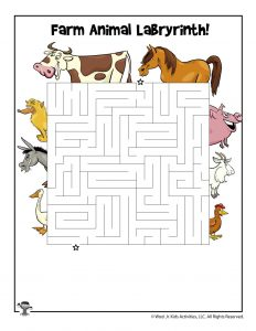 Farm Animal Printable Maze