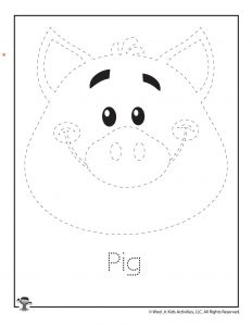 Pig Letter Tracing Worksheet