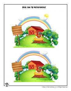 Farm Activity Page - Spot the Difference