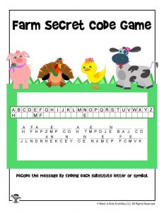 Farm Secret Code Game