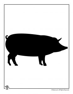 Farm Pig Silhouette