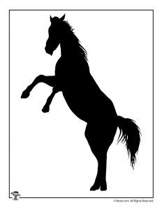 Horse Printable Shape