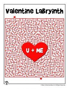 U + Me Valentine Maze