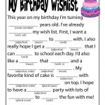 Birthday Mad Libs for Kids