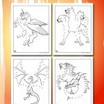 Mythical Creatures Dot to Dots Printables