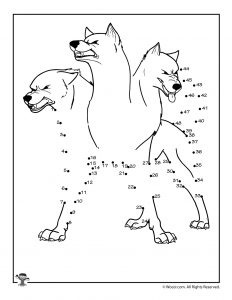 Cerberus 3 Headed Dog Greek Mythology Connect the Dots Worksheet