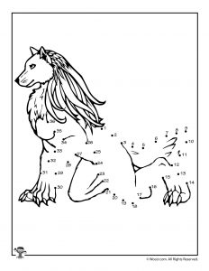 Fenrir Mythical Wolf Dot to Dot Printable