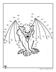 Gargoyle Printable Dot to Dot