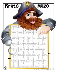 Pirate Maze Printable