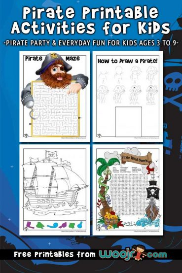 Pirate Printable Activities for Kids